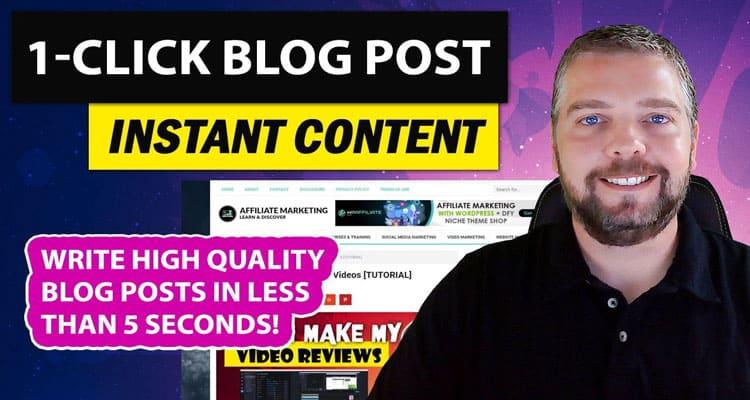1-Click Blog Post Review 2020