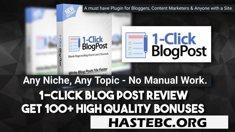 1-Click Blog Post Reviews Legit