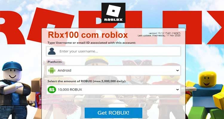 Rbx100 com Roblox 2020