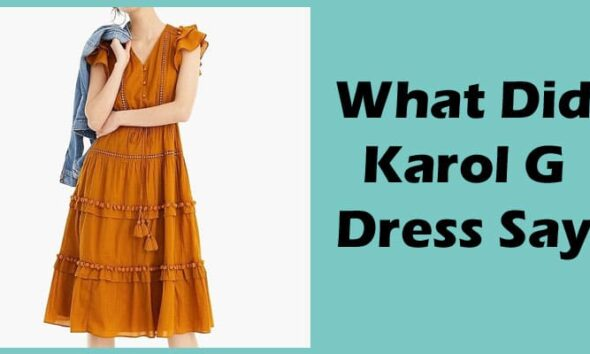 What Did Karol G Dress Say 2020