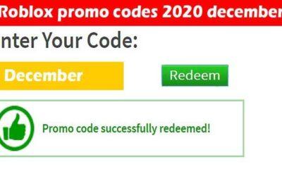 Roblox Promo Codes 2020 December.